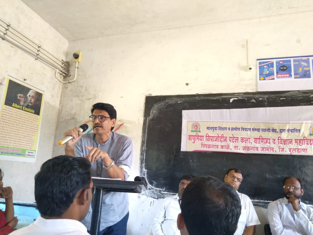 Principal Dr. I. A. Raja delivered lecture on the occasion of Vachan Prerana Din Program