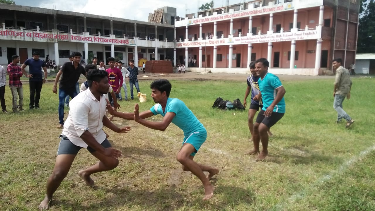 Kabbadi competition at college