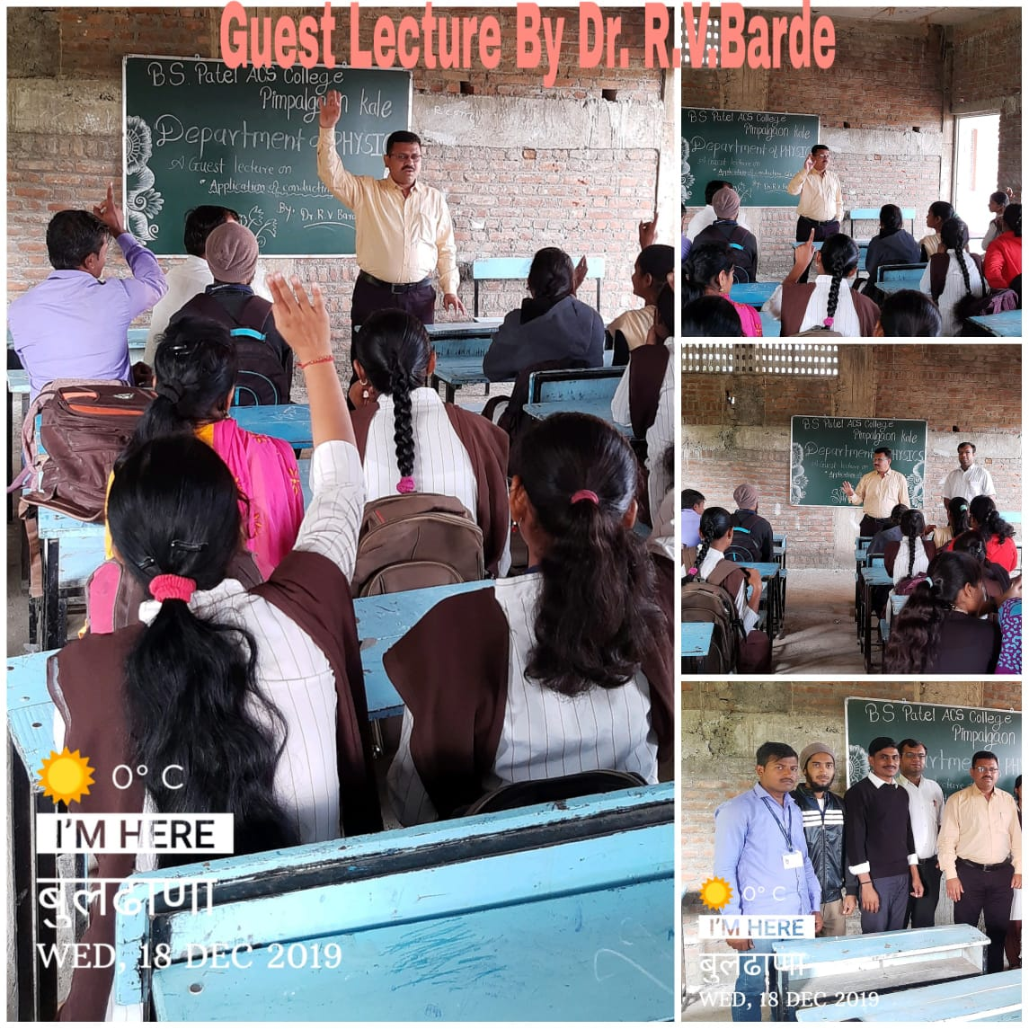 Guest lecture organized by department of Physics