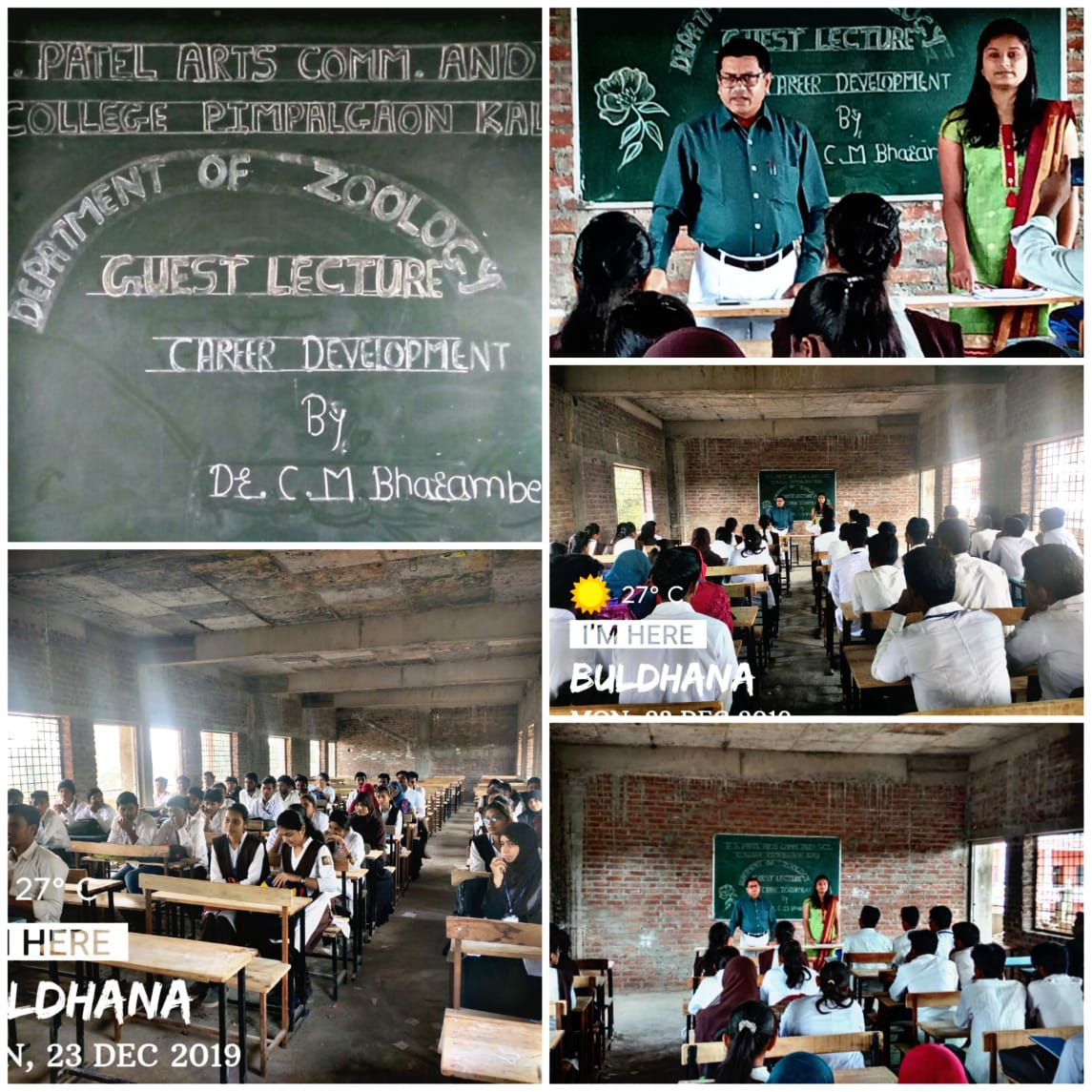 Guest lecture organized by Department of Zoology